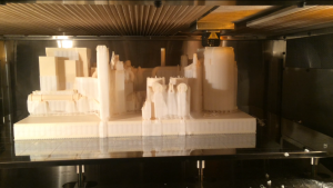 Rapid prototyping services with soluble supports by 3D Print Western. Rapid prototyping services offered in Edmonton, Calgary, Vancouver, Toronto areas. This is a CENTAC air compressor scale model 3D printed by 3D Print Western in Edmonton, Alberta. The use of support material allows for near limitless design capabilities and intricate features.