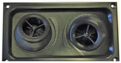 Assembled LRT Vent - 100% 3D printed