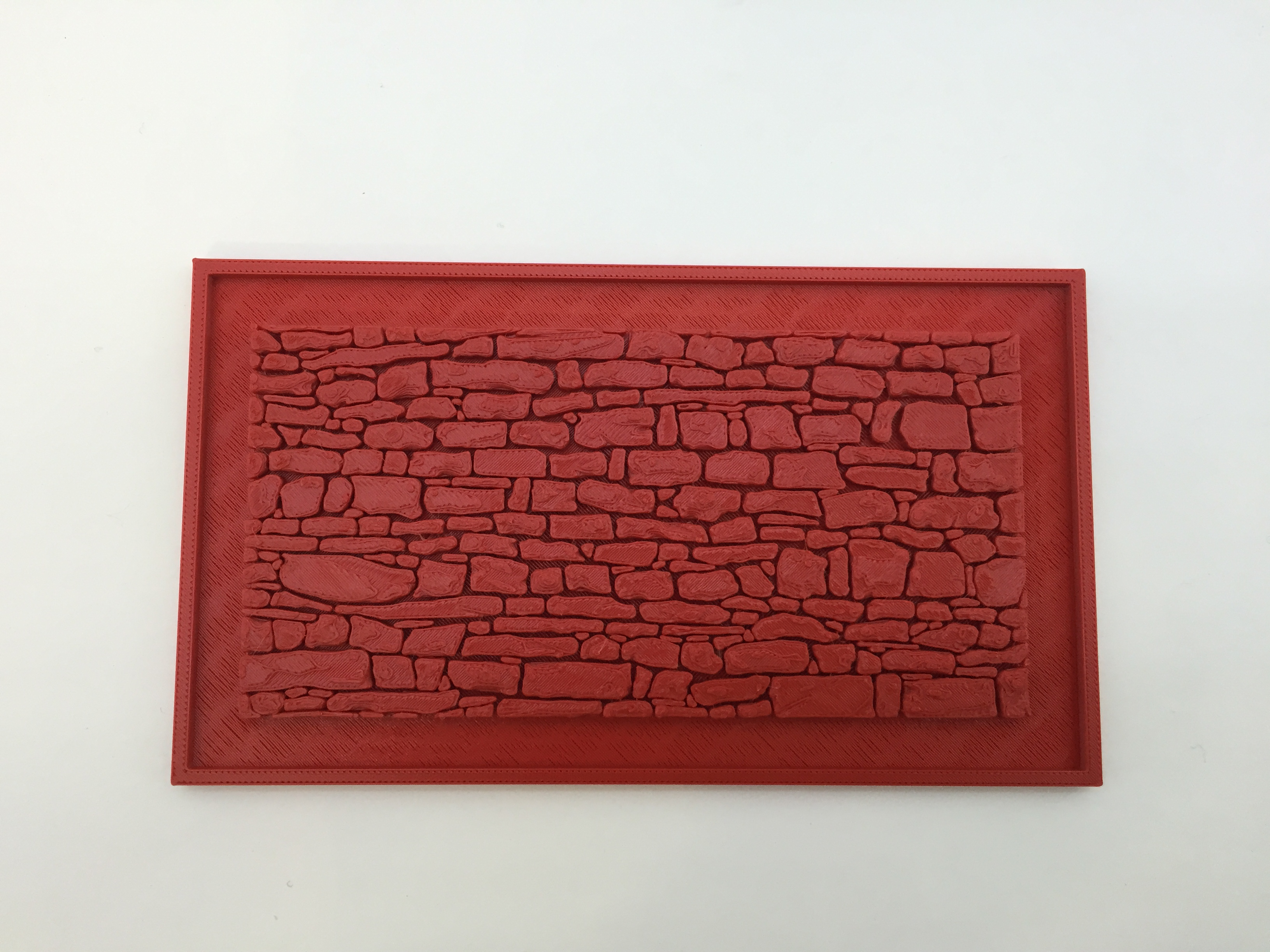 Stone Wall for Mould Making